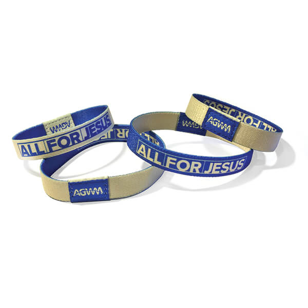 All for Jesus Wristband Small Adult/Youth  Pkg 10