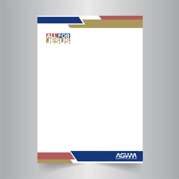 All for Jesus Letterhead Pkg 50