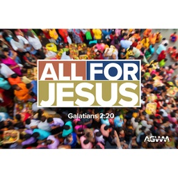 [719030] All for Jesus 6'x4' Banner
