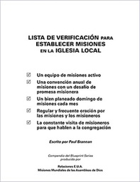 [730007] Checklist for Building Missions in the Local Church