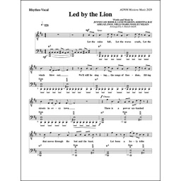 "[718681] ""Led by the Lion"" Lead Sheet (Music Book)"