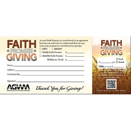 [717095] Faith Promise Card English Pkg 50
