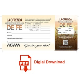 [730063] Download All for Jesus Faith Promise Card Spanish