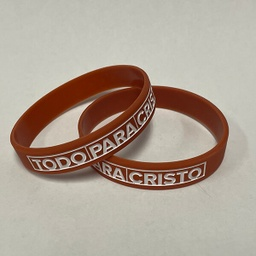 [719004] Spanish All for Jesus Silicone Wristband Sm Adult/Yth Pkg 10